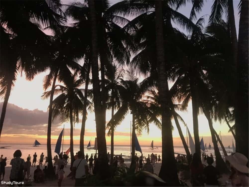 长滩岛CoCo English 夕阳