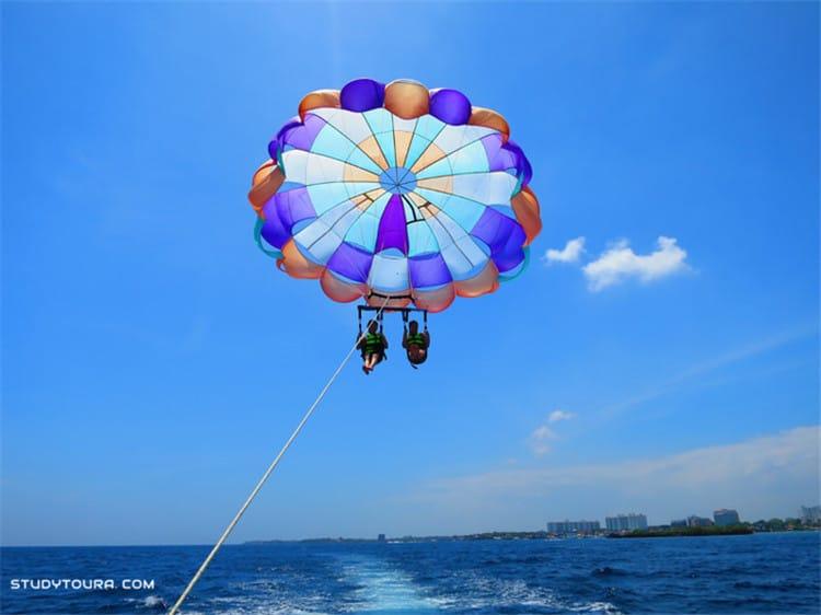 滑水和滑翔伞