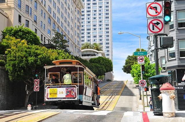 美国旧金山游学-有轨电车